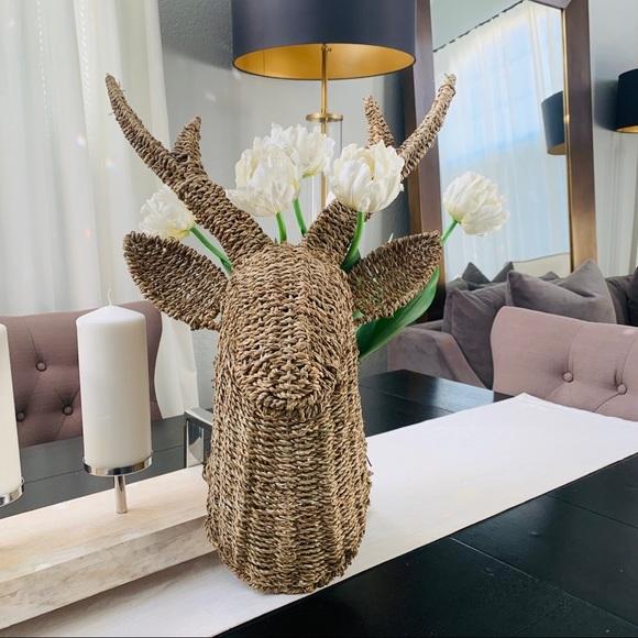 Threshold woven deer hanging decor
